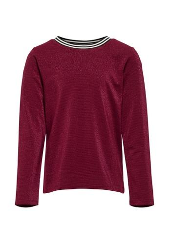 ONLY red Athea Life Long Sleeves Top 807F5KA475E548GS_1