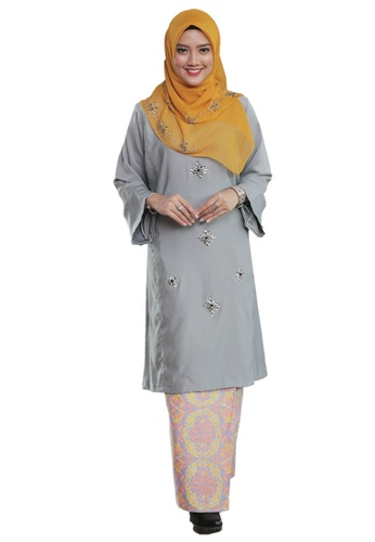 Percikan Cahaya 03 from Hijrah Couture in Grey