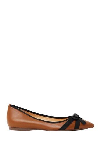Nina Armando brown Dianne Leather Ballet Flats NI342SH0FV8HSG_1