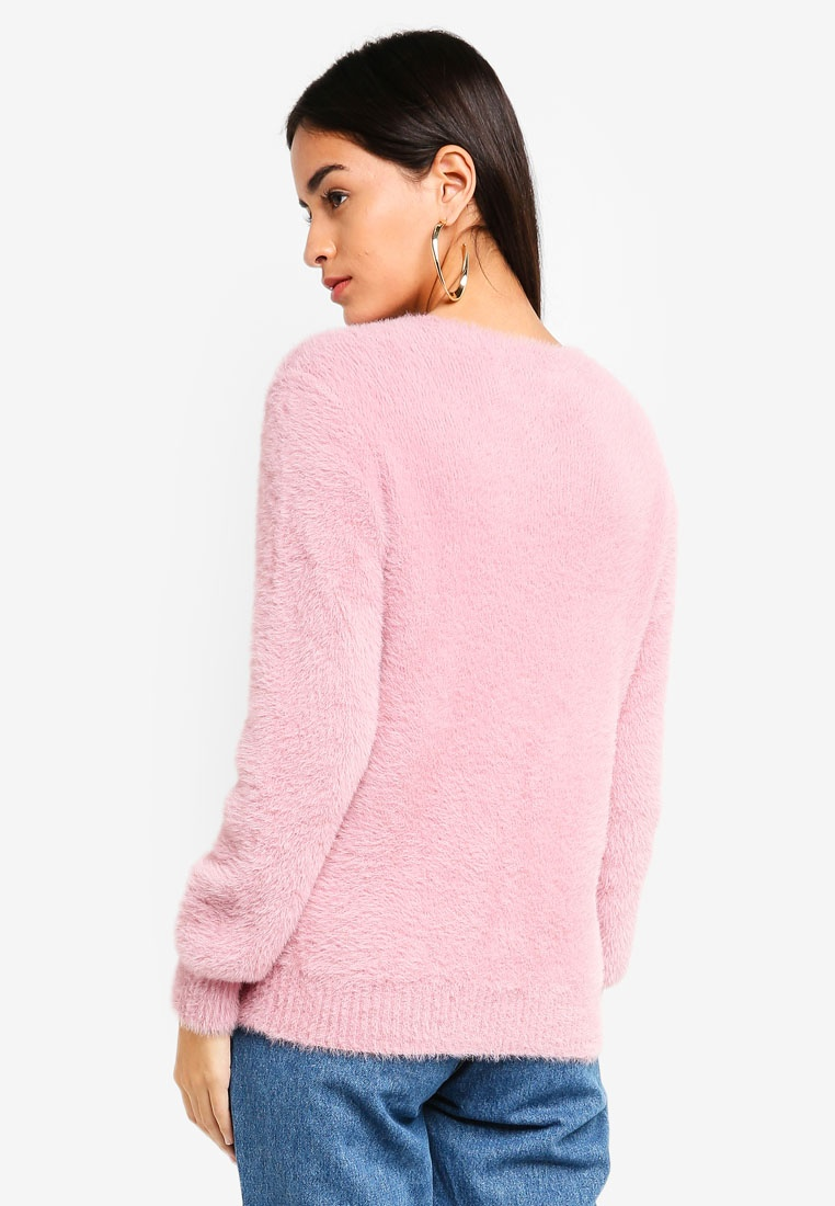 Dusty Pink ZALORA Knit Knit Jumper ZALORA zwSq8