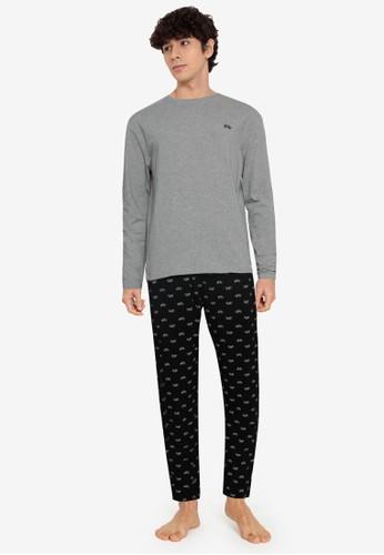 Springfield black Organic Cotton Knit Pyjamas 83C25AA68FF1A0GS_1