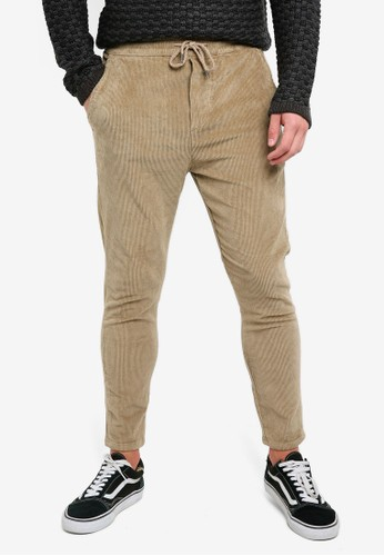Only & Sons brown Loose Corduroy Pants F4FEEAAF6DAE6CGS_1