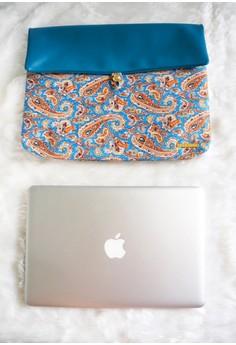 Zuri Laptop Sleeve - Caribbean Blue Paisley