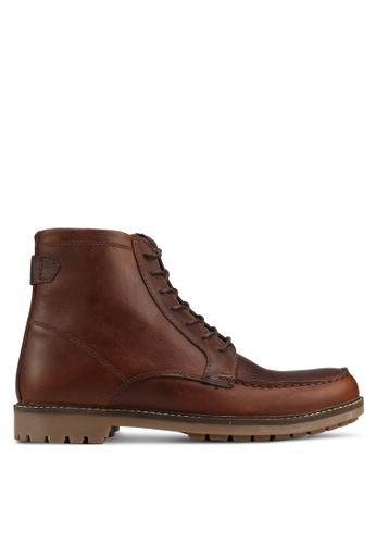 Burton Menswear London brown Leather Apron Boots On A Gum Sole C53D1SHF4065CFGS_1