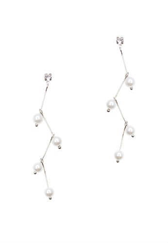 LUCCACAL silver White Lightning Earrings LU294AC0S1XQMY_1