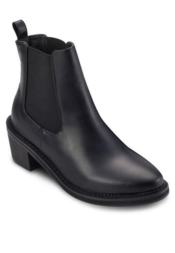 側彈性帶低跟短靴, 女esprit au鞋, 靴子