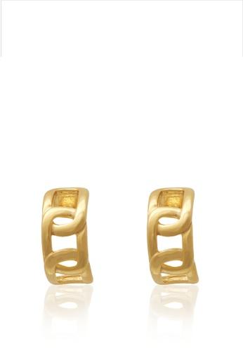 TOMEI gold TOMEI Anastasia Earrings, Yellow Gold 916 (AS-YG1151E-1C) (3.35G) ACF80AC5970B85GS_1