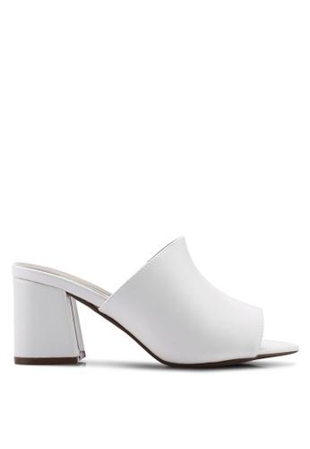 9bf361f98bb Mid Flared Heel Peep Toe Mules