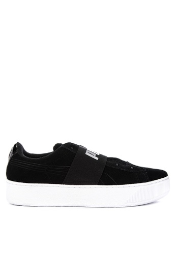 20361a5c1680 Puma black Vikky Platform Elastic SD Lifestyle Sneakers BB6EDSH822D899GS 1