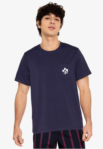 ZALORA BASICS navy Monstera T-Shirt A46C4AA1B53885GS_1