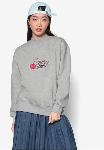 韓系時尚 Cherry esprit outlet 台灣Bomb 文字印花長袖上衣, 服飾, 外套