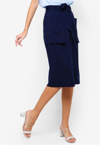 ZALORA navy Cargo Pocket Skirt C605EAA5160A6CGS_1