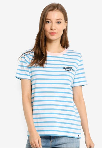 SUPERDRY blue Dakota Stripe Graphic Tee DB2C0AA28C6128GS_1