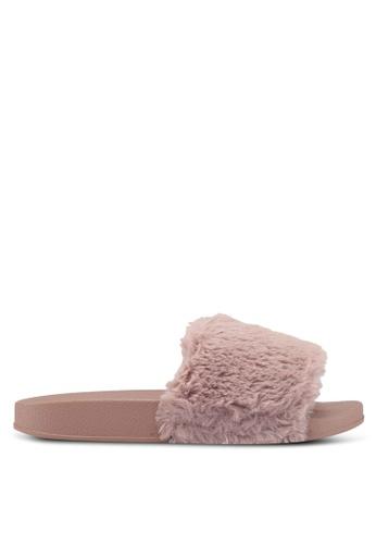 Bata 粉紅色 絨毛舒適拖鞋 EF4A5SH08C2A17GS_1