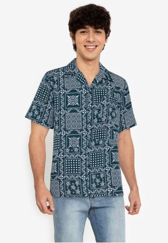 ZALORA BASICS multi Bandana Print Shirt 87A2FAA31D697CGS_1