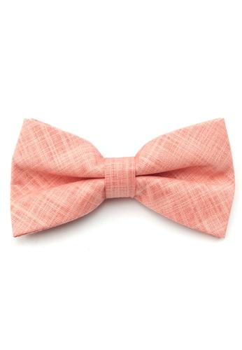Caveman pink Peach Textured Pre-Tied Bowtie 54C16ACDDE8E64GS_1