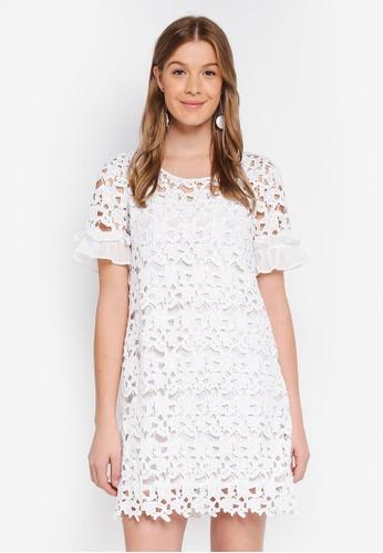 Angeleye white Lace Shift Dress 62134AAD113F1DGS_1