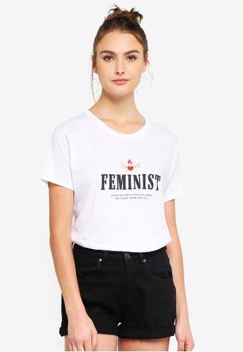 Cotton On white Tbar Fox Graphic Tshirt 27BC6AA8FD0D3EGS_1
