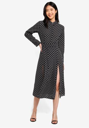 ZALORA BASICS multi Basic Longline Shirt Dress With Front Splits 000B6AA5C0A762GS_1
