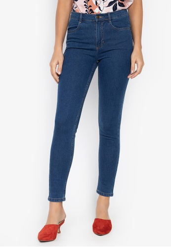 MARKS & SPENCER blue Mid Rise Skinny Leg Jeans 59256AA420A7B2GS_1