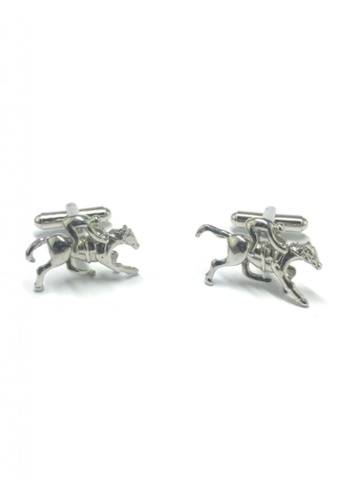 Splice Cufflinks silver Silver Jockey on Horse Cufflinks SP744AC84FUHSG_1