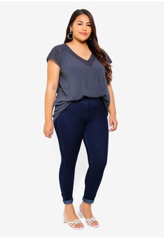11be3757f50 19% OFF Junarose Plus Size Alisa Cap Sleeve Blouse S  69.00 NOW S  55.90  Available in several sizes