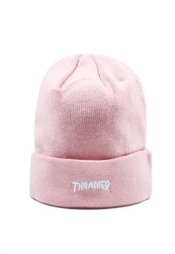 Thrasher pink Thrasher Hometown Beanie E452BAC330E076GS_1