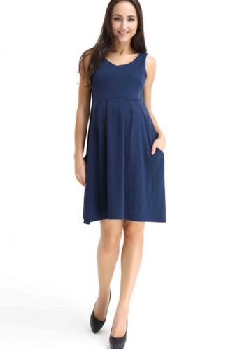 Bove by Spring Maternity blue Knitted Eva Sleeveless Dress LD402 SP010AA03RZCSG_1