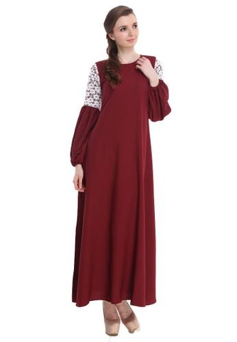 Amar Amran red Jubah Zara 7DDE8AA1FB08FFGS_1