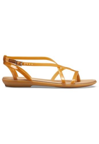 Crocs gold Women's Crocs Isabella Gladiator Sandal DGd/Gld E0E2BSH88B3B1BGS_1