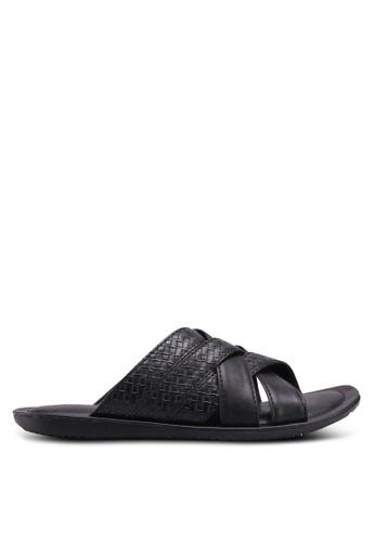 Bata black Embossed Sandals 139C5SH7C20D69GS_1
