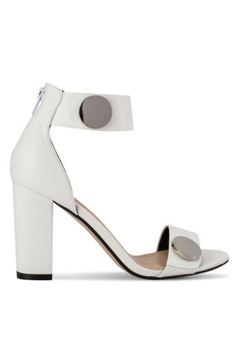ZALORA white Block Heel Sandals 818F7SH77961E5GS_1