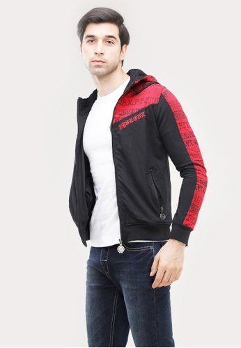 Dyse One black and red Jacket With Hoody 6E6F0AA9528C34GS_1