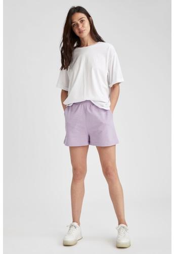 DeFacto purple Relax Fit Sweatshirt Short 9E355AAD220E72GS_1