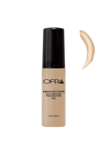 OFRA beige Absolute Cover Silk Peptide Foundation in Shade 2 0487FBEDC9D4A8GS_1