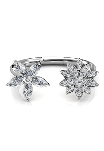 Her Jewellery silver Her Jewellery Fraternal Bloom Ring with Premium Grade Crystals from Austria HE210AC80DMPSG_1