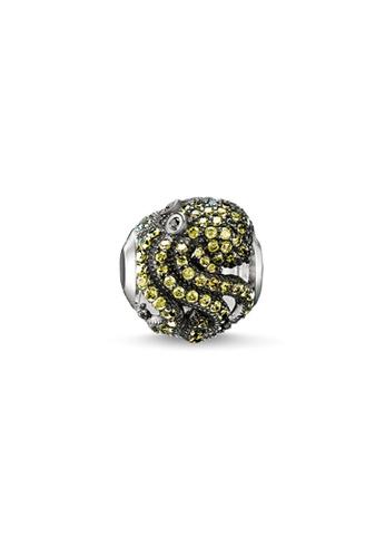 """THOMAS SABO silver Bead """"green octopus"""" CA658AC247CE96GS_1"""