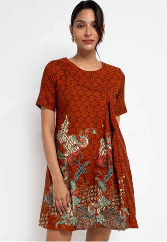 Adikusuma brown Sackdress Batik Latar Ceplok 9A4F9AACC1B692GS_1
