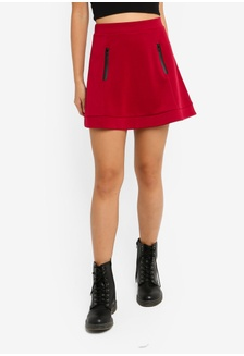 adeb458f5 Buy TOPSHOP Petite Double Buckle Denim Skirt | ZALORA HK