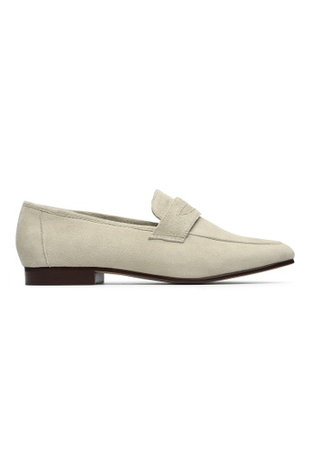 Byford beige Cameo Penny Loafers 160B9SHB44FBB8GS_1