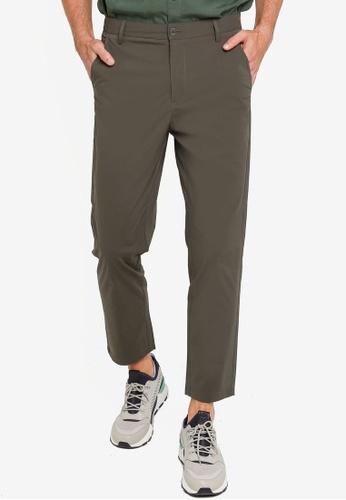Urban Revivo 綠色 Trendy 直筒褲 5E431AA9E60D32GS_1