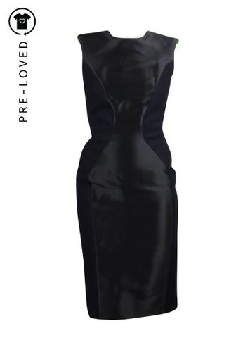Roksanda Ilincic black Pre-Loved roksanda ilincic Black Dress With Zipper 9BE23AAECE49DEGS_1