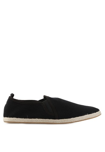 Minarno black Black Canvas Slip-On ND125 MI641SH38ZAZID_1