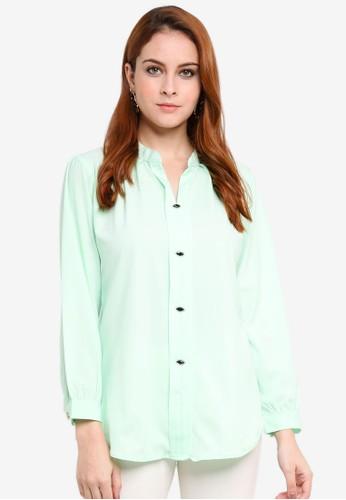 Aqeela Muslimah Wear green Kebaya Top B0D51AAF23E409GS_1
