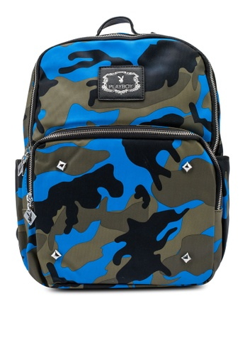 Playboy blue Playboy Camo Backpack 11E87AC05A6214GS_1