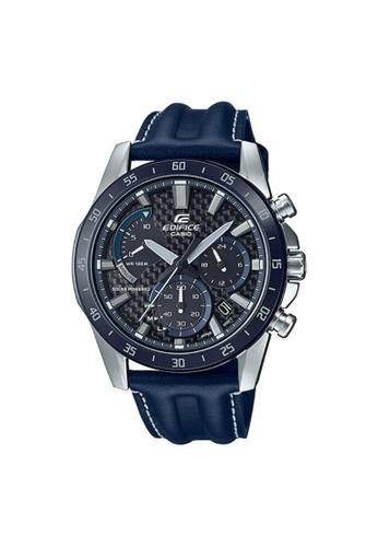 Casio blue CASIO EDIFICE EQS-930BL-2AVUDF BLUE LEATHER MEN'S WATCH BDB52ACB7D1C54GS_1
