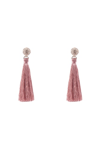 ALDO 粉紅色 Adrindra Tassel Drop Earrings 95C29AC1C7F8F6GS_1