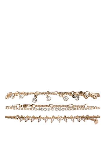 ALDO blue Nydilallan Ankle Bracelet Set B2E46AC364D4C2GS_1