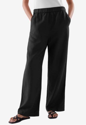 COS black Elasticated Pants 6539DAA4CEA662GS_1