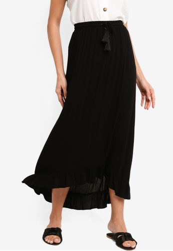ZALORA black Ruffle Hem Skirt B1BAEAABAF8A0CGS_1